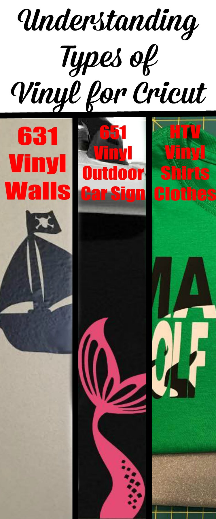 Types of Vinyl for Cricut Machine PIN