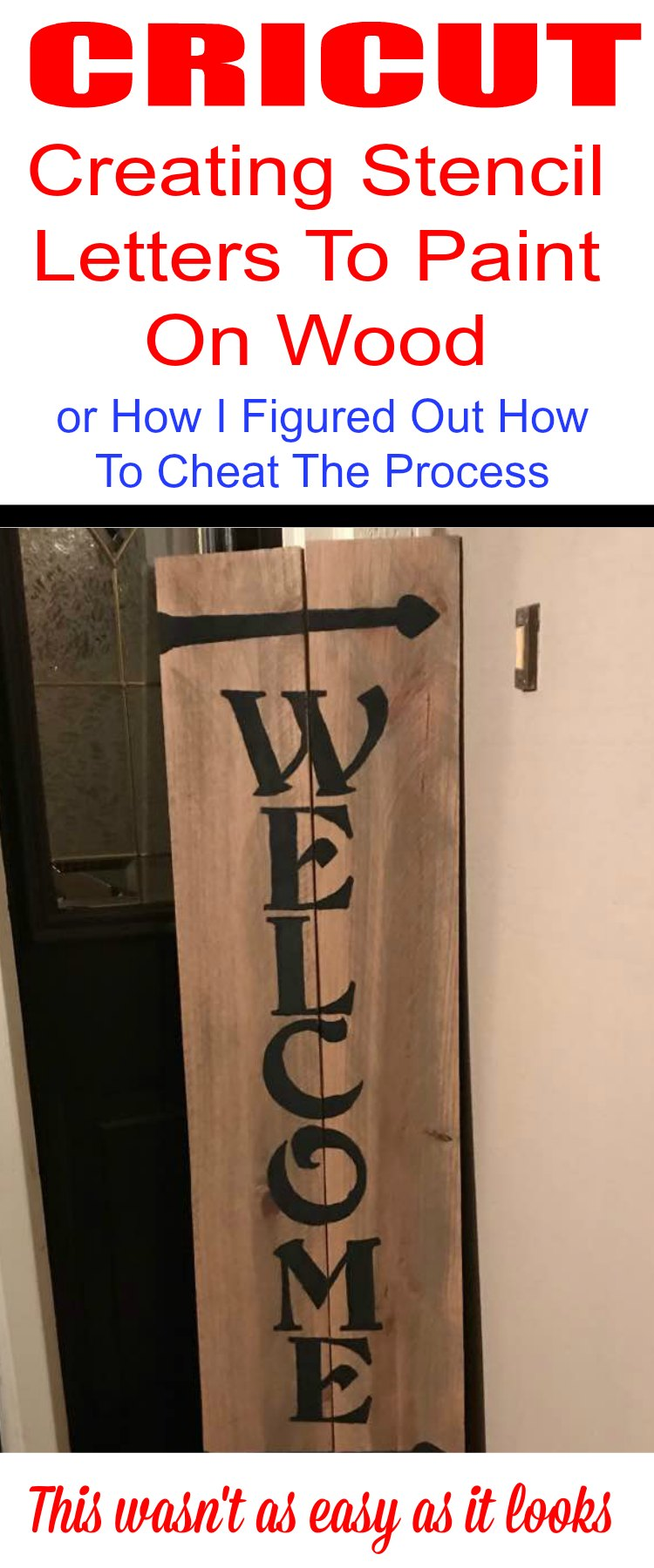 Creating Stencil Letters To Paint Wood Cricut Smart Cutting
