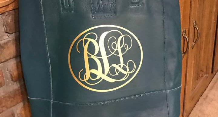 DIY Monogrammed Leather Tote Bags with Cricut