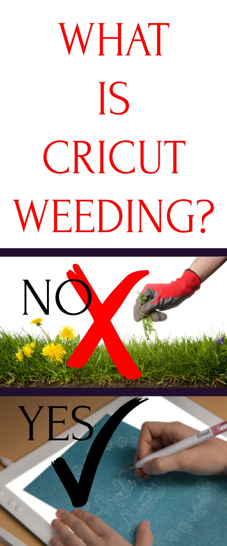 Cricut weeding isn't difficult. Find out my tips and tricks to help you learn how to Cricut Weed. I also put a video tutorial in there. Check it out!