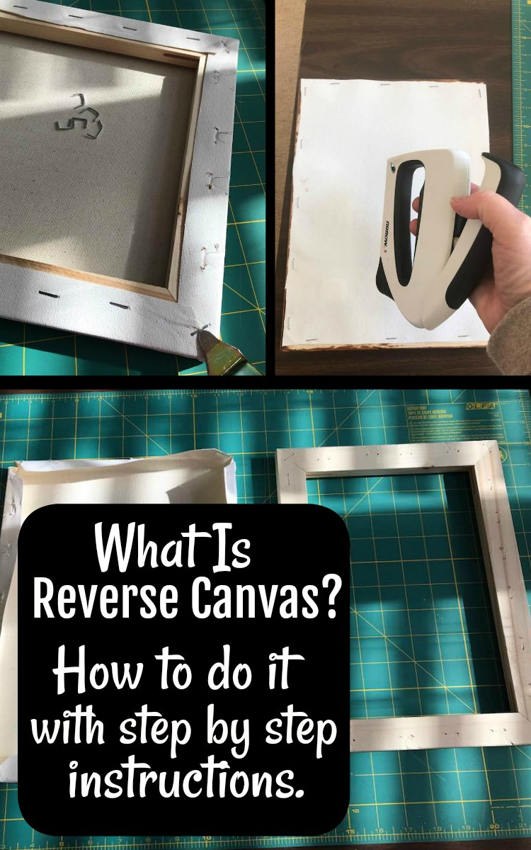 Step by Step instructions for Cricut Reverse Canvas project.