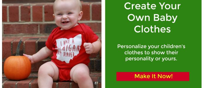 Create Your Own Baby Clothes by personalizing them with Cricut. So much fun and adorable clothes.