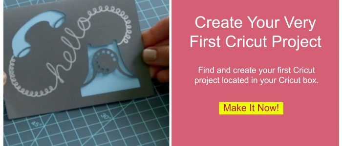 Learn how to create your very first project with your new Cricut. Find the first project inside your Cricut box.