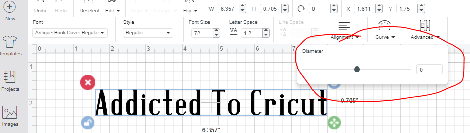 Figuring out how to curve text in Cricut Design Space is half the battle. Next you need to decide how much curve do you want.
