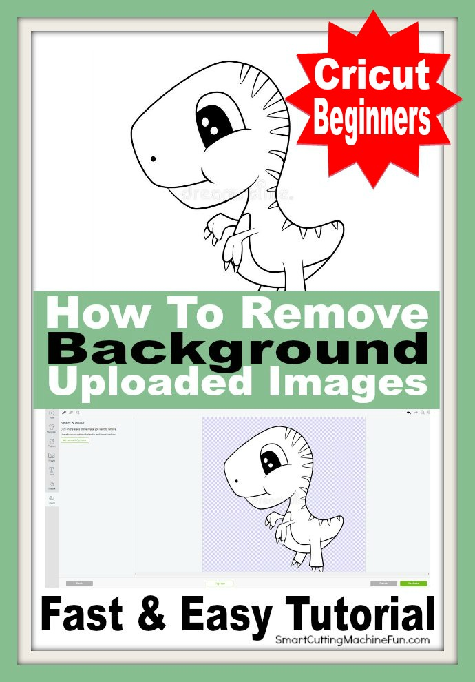 Cricut Beginners Tip - Find out how to remove background from uploaded images. It's easy and so quick.
