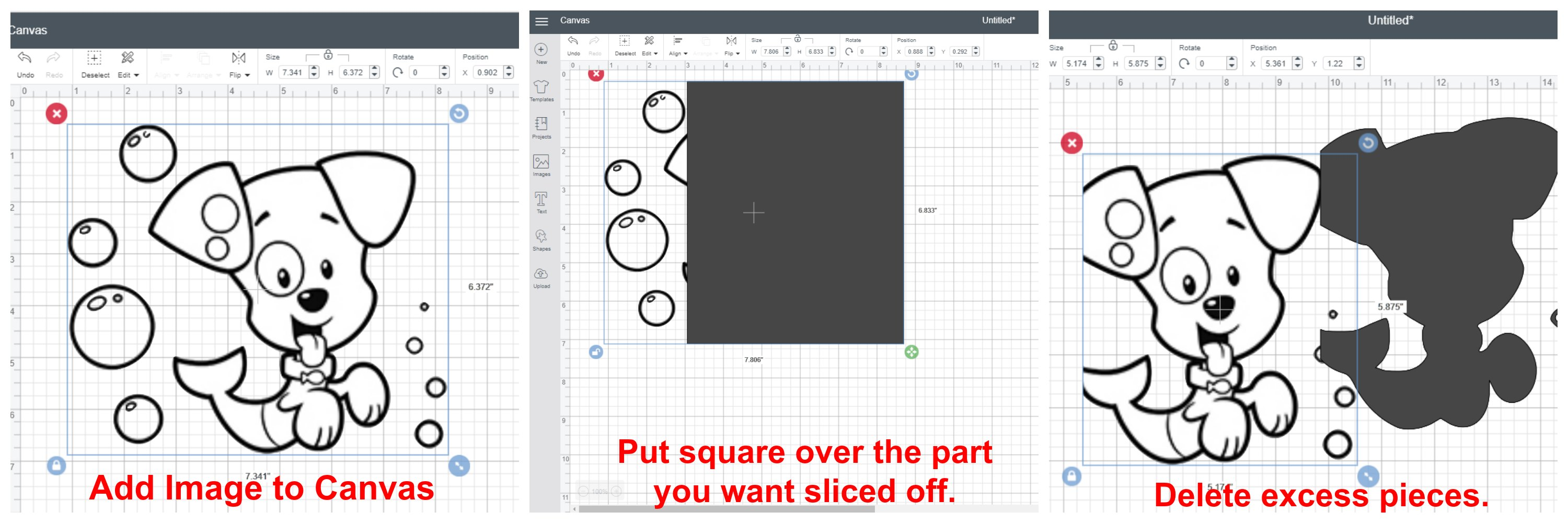 How to edit images in Cricut Design Space using the Slice tool.