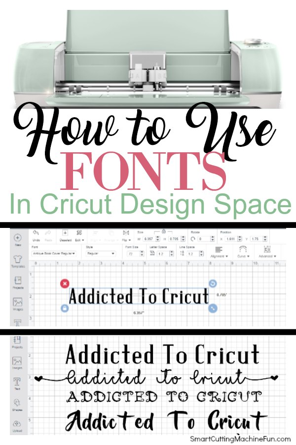 Don't be intimidated! Learn how to use fonts in Cricut Design Space TOADY!