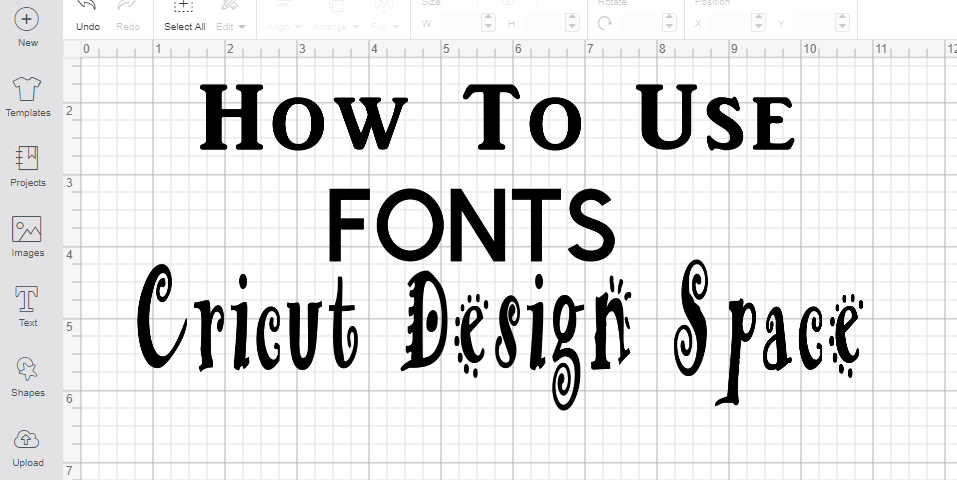 Cricut Beginners will want to know how to use fonts in Cricut Design Space. Check out my great tips and tricks for the perfect fonts in Cricut Design Space