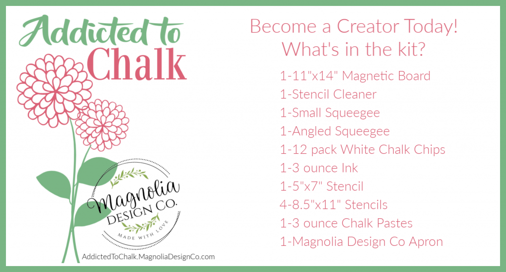 Become a Creator with Magnolia Design Co - What comes in the kit