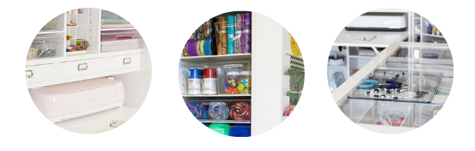 Craft Room Organization Furniture | Craft Table Storage | ScrapBox Storage Cabinet