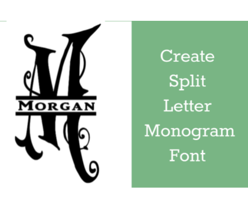 Split Letter Monogram Guide