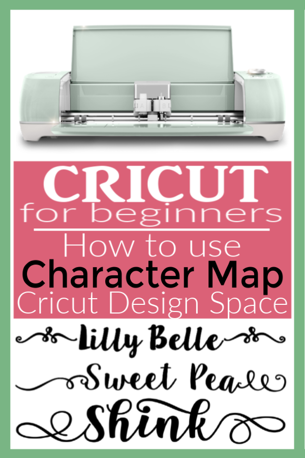 Character Map in Cricut Design Space | Learn how to use swishes and swirls in Cricut Design Space