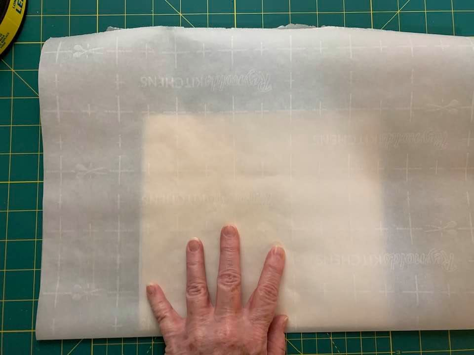 Create Reusable Stencils for Chalk Paste - Heat Press Heat n Bond sandwiched inside Parchment Paper