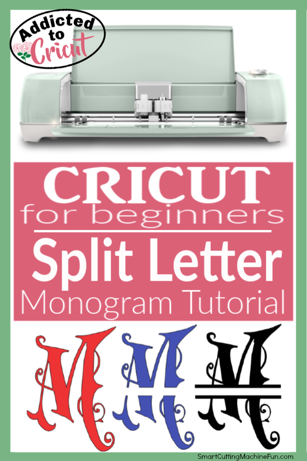 Learn how to create beautiful Split Letter Monograms for FREE!