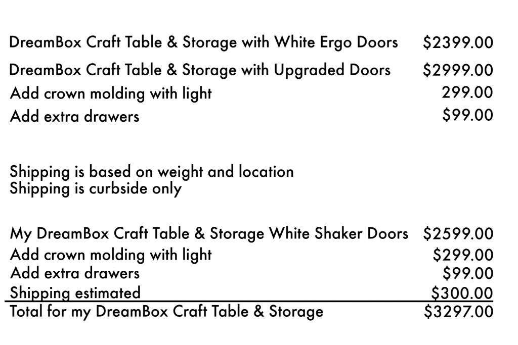 DreamBox Craft Table Storage   Craft Room Storage   ScrapBox DreamBox