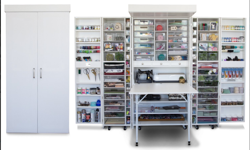Best Craft Organizer Furniture Addicted To Cricut