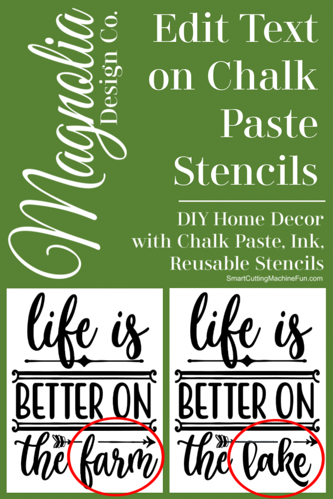 How to Edit Text on Chalk Paste Stencils