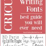 Free Writing Fonts for Cricut