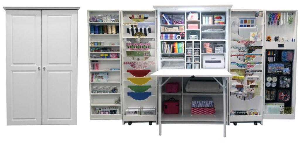 Her HobbyBox Workstation and Craft Storage | Craft Room Storage Cabinets | ScrapBox Storage Cabinet