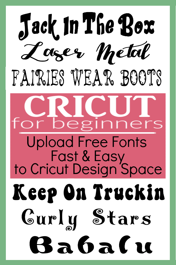 can you download free fonts for cricut