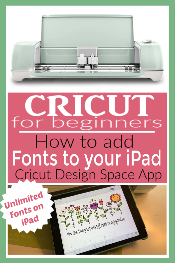 How to Add Fonts to Your iPad Cricut | Cricut Design Space App | How to add new fonts to your iPad