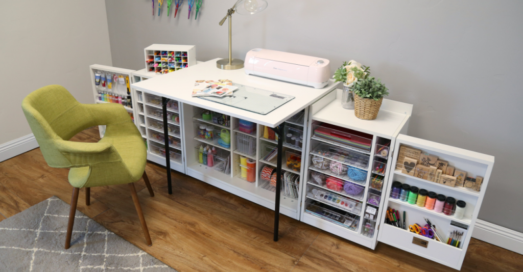 Modern MiniBox Folding Craft Tables for Space Saving | Craft Room Storage Cabinets | ScrapBox Storage Cabinet