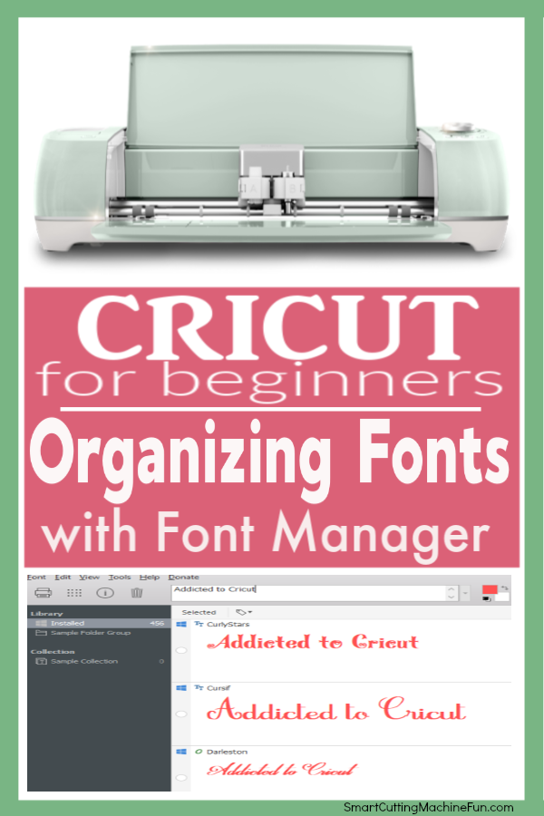 Organize Fonts With A Font Manager Smart Cutting Machine Fun