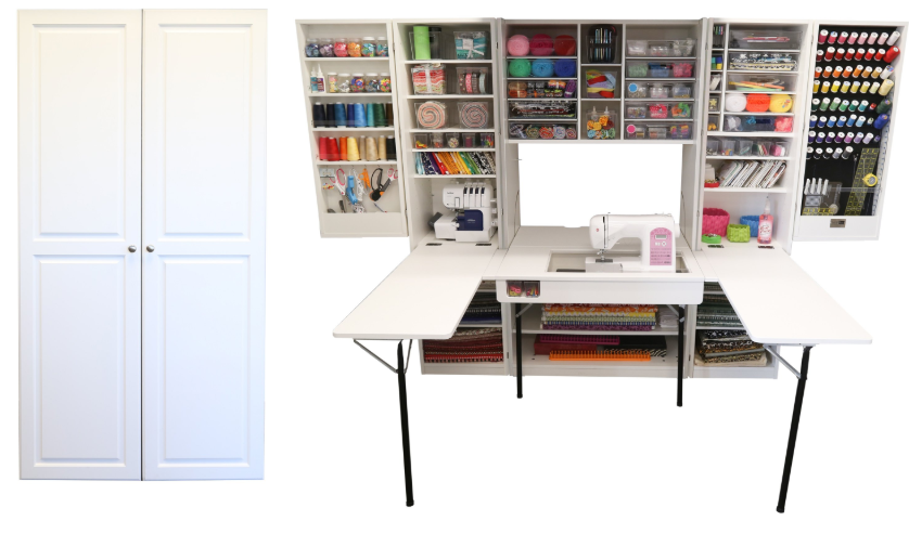 Ultimate SewingBox with 2 Cutting Tables | Craft Room Storage Cabinets | ScrapBox Storage Cabinet