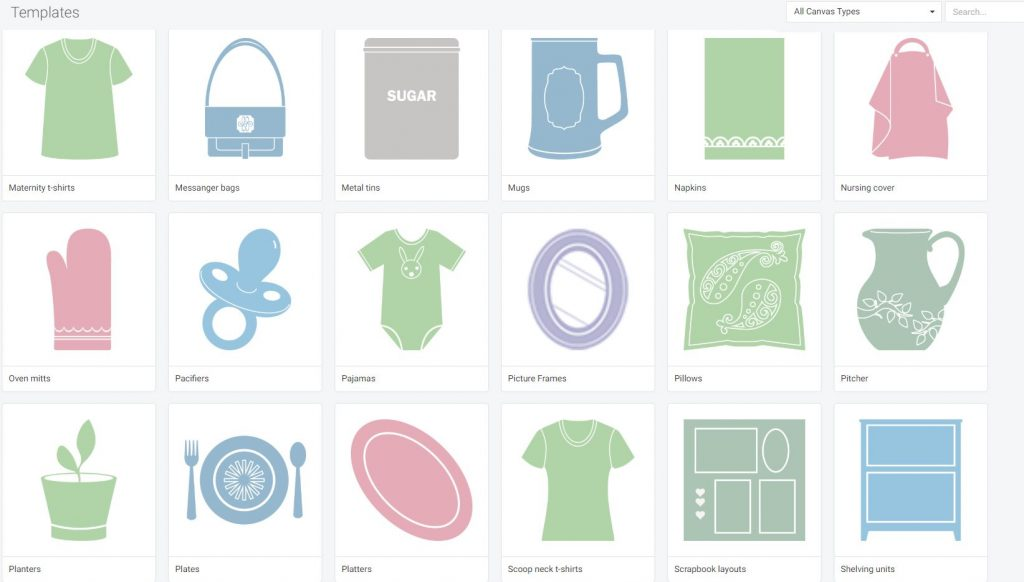 What are the Templates for in Cricut Design Space